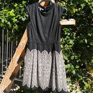 Maggie London Fit & Flare Knit Dress Back Zipper10